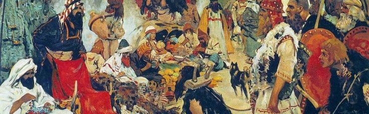S._V._Ivanov._Trade_negotiations_in_the_country_of_Eastern_Slavs._Pictures_of_Russian_history._(1909)